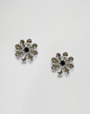 Krystal Серьги с кристаллами Swarovski. Цвет: черный