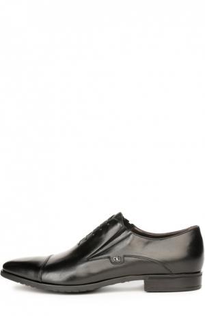 Кожаные туфли с имитацией шнуровки Aldo Brue. Цвет: черный