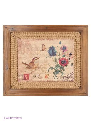 Картина ДСЛ 558 цвет коричневый Da Sent Lin ARTS. Цвет: коричневый