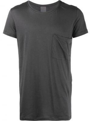 Классическая футболка с нагрудным карманом Lot78. Цвет: серый