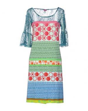 Платье до колена SAVE THE QUEEN. Цвет: зеленый