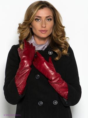 Перчатки Piero. Цвет: темно-красный