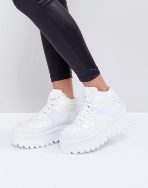 Jeffrey Campbell Белые кроссовки на платформе. Цвет: белый
