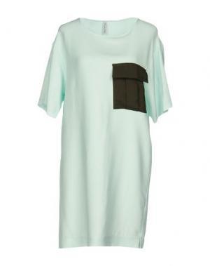Короткое платье AGLINI. Цвет: светло-зеленый