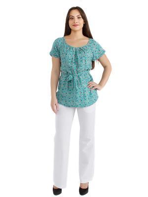 Блузка женская OLBE. Цвет: светло-зеленый, белый, красный, розовый, синий, темно-зеленый