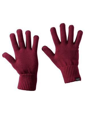 Перчатки MILTON GLOVE Jack Wolfskin. Цвет: бордовый