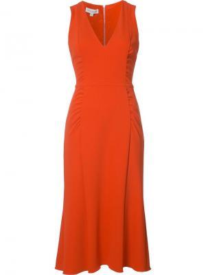 Плиссированное платье шифт Narciso Rodriguez. Цвет: красный