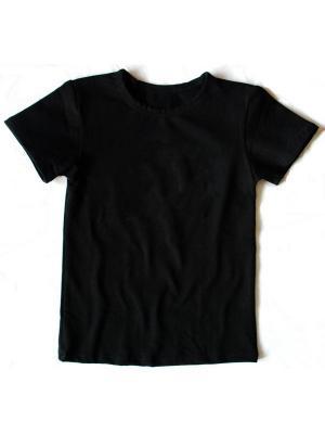 Черная детская футболка без надписей Мы команда. Цвет: черный