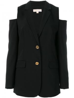 Блейзер с вырезами на плечах Michael Kors. Цвет: чёрный