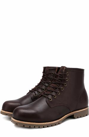 Кожаные ботинки Moscow на шнуровке Affex. Цвет: темно-коричневый