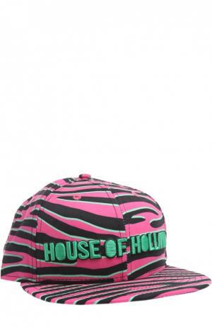 Кепка с принтом House Of Holland. Цвет: розовый