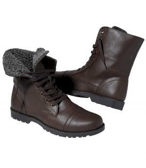 Ботинки с Высоким Голенищем AFM. Цвет: коричневыи