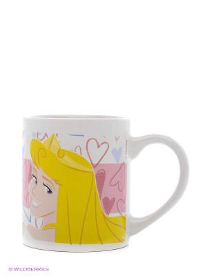 Кружка керамическая. Принцессы Stor. Цвет: розовый, желтый, белый