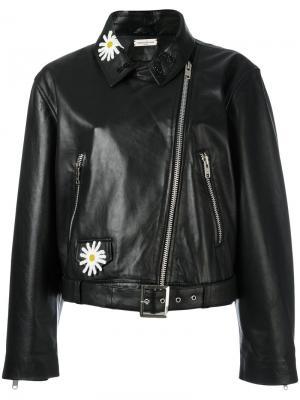 Байкерская куртка Natasha Zinko. Цвет: чёрный