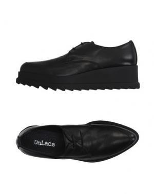 Обувь на шнурках UNLACE. Цвет: черный
