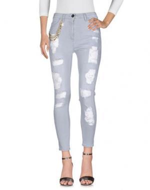 Джинсовые брюки ELISABETTA FRANCHI JEANS. Цвет: серый