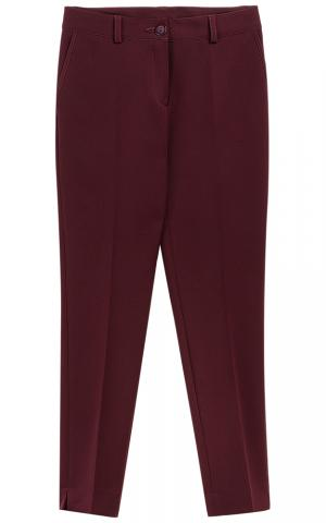 Бордовые брюки La reine blanche