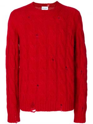 Джемпер вязки косичкой Dondup. Цвет: красный