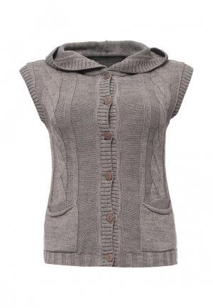 Жилет Milana Style. Цвет: серый