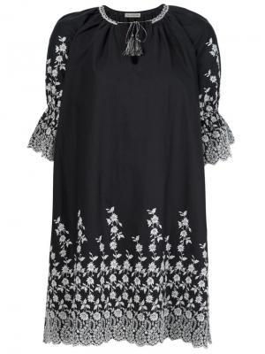 Платье с цветочным принтом Ulla Johnson. Цвет: серый