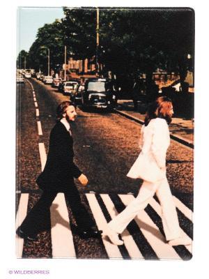Обложка для паспорта Abbey road Mitya Veselkov. Цвет: коричневый, кремовый, черный