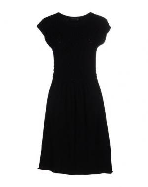 Короткое платье SIMONA MARTINI. Цвет: черный