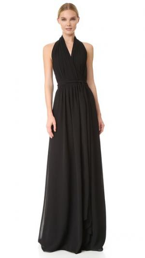 Платье-халат Amber с завязками уздечкой Joanna August. Цвет: голубой