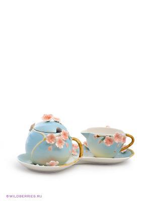 Сахарница и молочник Сакура Pavone. Цвет: голубой