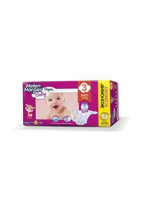 Helen HARPER Подгузники детские Baby Midi 4-9кг 52шт. Цвет: темно-фиолетовый