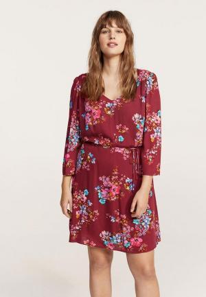 Платье Violeta by Mango. Цвет: бордовый