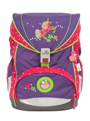 Рюкзак с наполнением DerDieDas. Цвет: фиолетовый, темно-красный