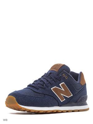 Кроссовки New Balance 574. Цвет: темно-синий