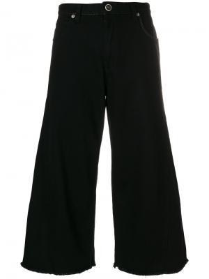 Укороченные широкие брюки клеш Sonia Rykiel. Цвет: чёрный