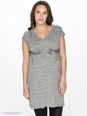 Платье Mama Licious. Цвет: серый