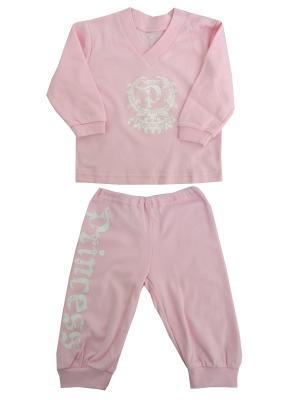 Пижама NICE-KID. Цвет: розовый