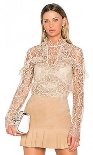 Блузка со шнуровкой elan Acler. Цвет: цвет загара