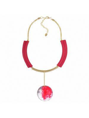 Ожерелье Модные истории. Цвет: красный
