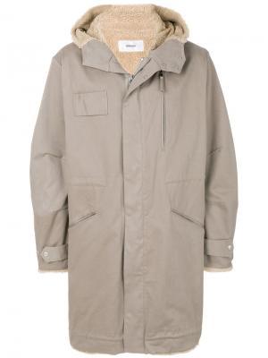 Пальто оверсайз с капюшоном Mauro Grifoni. Цвет: телесный