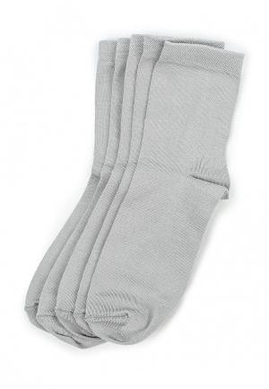Комплект носков 5 пар Alla Buone. Цвет: серый