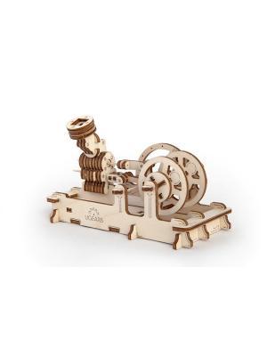 Конструктор 3D-пазл Ugears - Пневматический двигатель. Цвет: светло-желтый