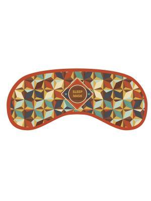 Маска для сна из полиэстера с поролоновым наполнителем и двойной эластичной резинкой Magic Home. Цвет: коричневый