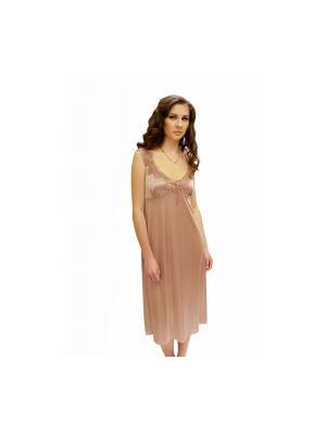 Сорочка ночная Belweiss. Цвет: розовый, светло-серый
