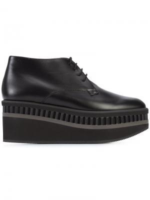 Туфли на шнуровке Limmy Robert Clergerie. Цвет: чёрный