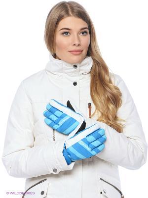 Перчатки BURRAN. Цвет: голубой