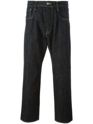 Широкие джинсы Ganryu Comme Des Garcons. Цвет: чёрный