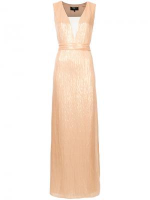 Длинное платье Paule Ka. Цвет: металлический