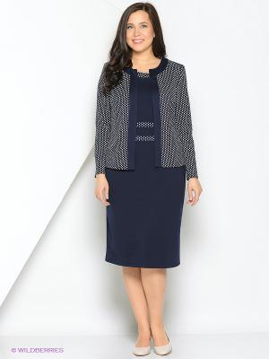 Комплект одежды Полина. Цвет: темно-синий, белый