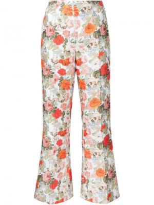 Расклешенные брюки с цветочным принтом Emilia Wickstead. Цвет: многоцветный