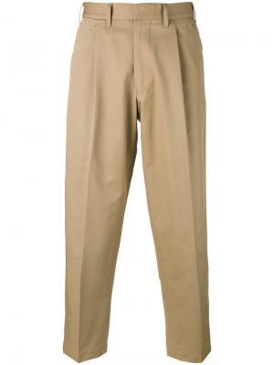 Укороченные брюки Craig The Gigi. Цвет: телесный