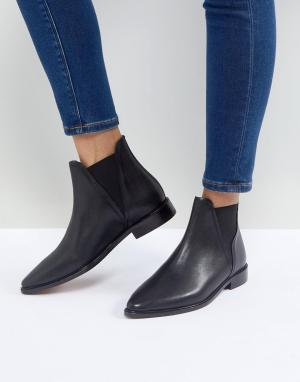 Hudson London Черные кожаные ботинки челси на плоской подошве Clemence. Цвет: черный